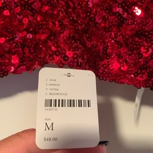 Free People Sequin Brami in Red/Rouge (med)
